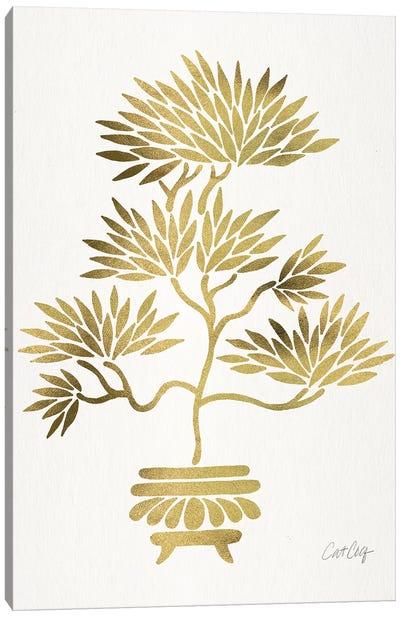 Gold Bonsai Canvas Art Print