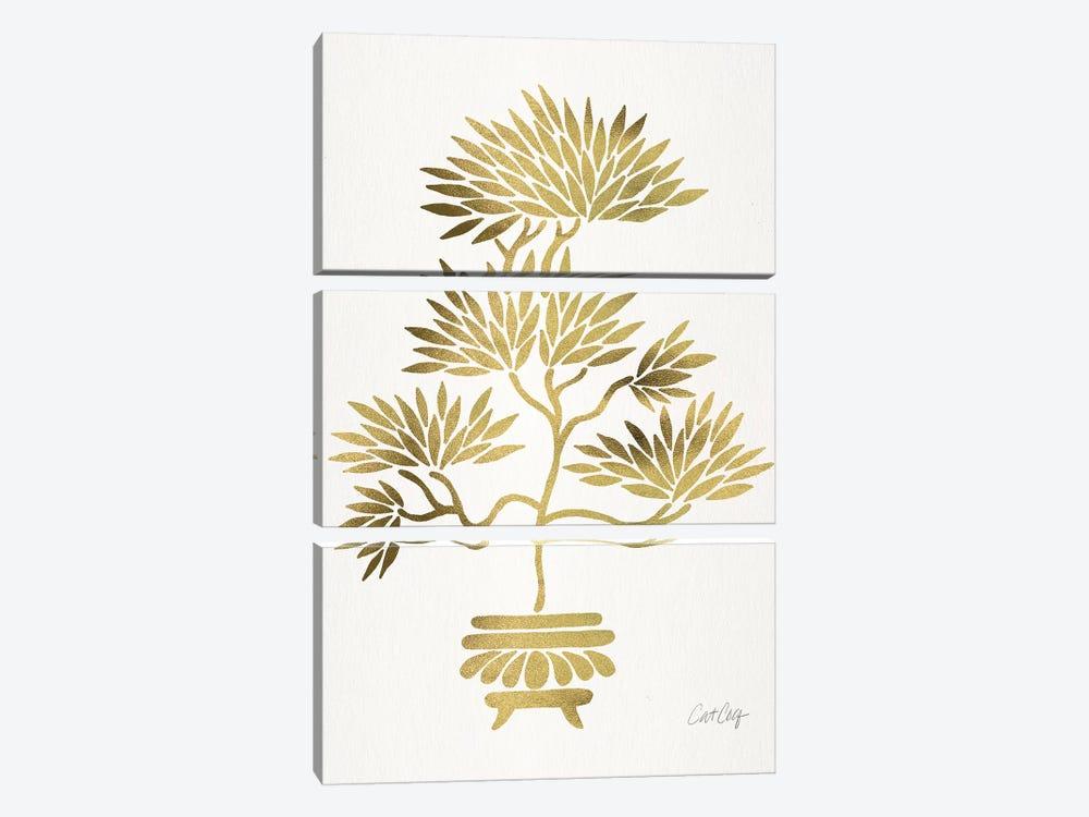 Gold Bonsai by Cat Coquillette 3-piece Canvas Art