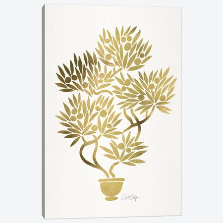 Gold Bonsai Fruit Canvas Print #CCE367} by Cat Coquillette Canvas Art Print