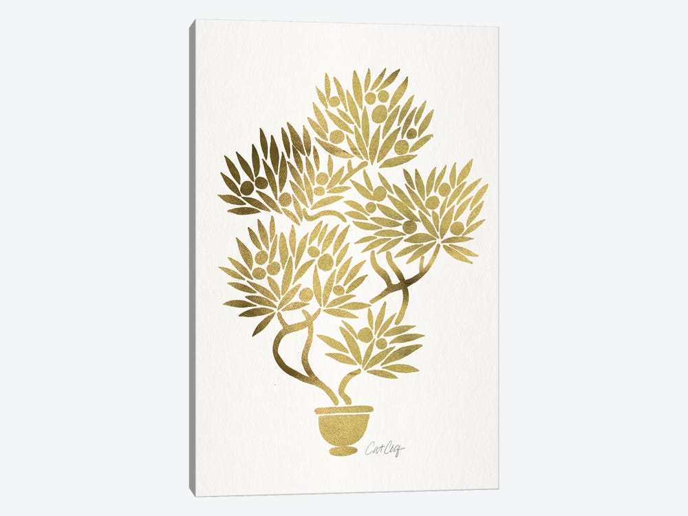 Gold Bonsai Fruit 1-piece Art Print