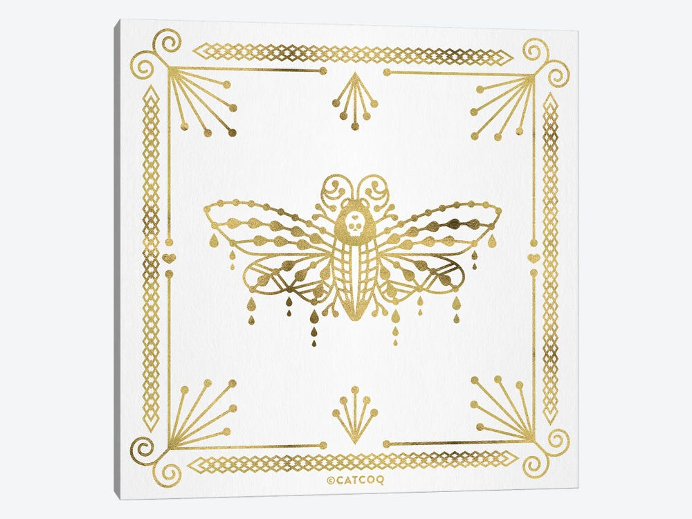 Gold Death Head Moth 1-piece Canvas Art