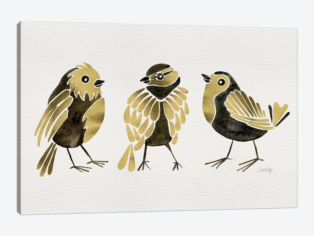 Gold Finches by Cat Coquillette 1-piece Art Print