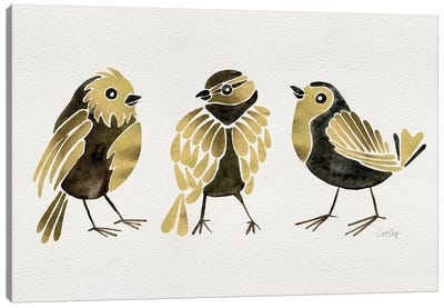Gold Finches Canvas Art Print