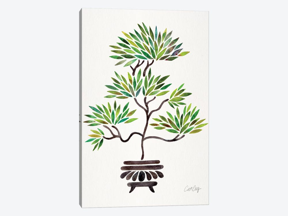Green Bonsai by Cat Coquillette 1-piece Canvas Print