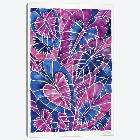 Indigo Schismatoglottis Calyptrata 3-Piece Canvas #CCE378} by Cat Coquillette Art Print