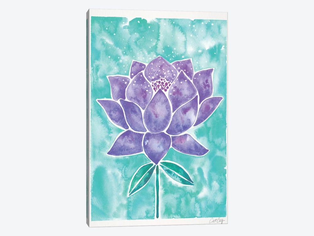 Lavender & Mint Lotus Blossom by Cat Coquillette 1-piece Canvas Art