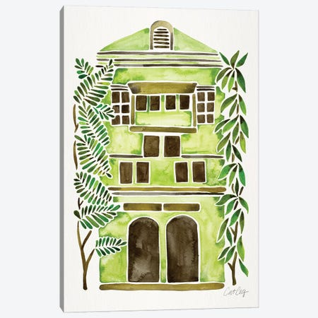 Lime House Canvas Print #CCE382} by Cat Coquillette Canvas Wall Art