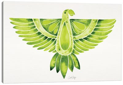 Lime Parrot Canvas Art Print