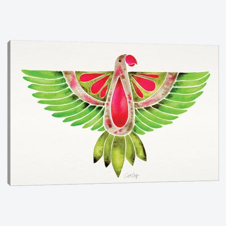 Lovebird Parrot Canvas Print #CCE384} by Cat Coquillette Canvas Art Print
