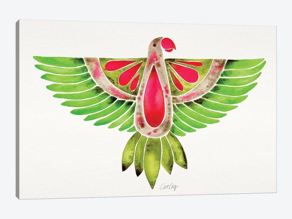 Lovebird Parrot by Cat Coquillette 1-piece Canvas Wall Art