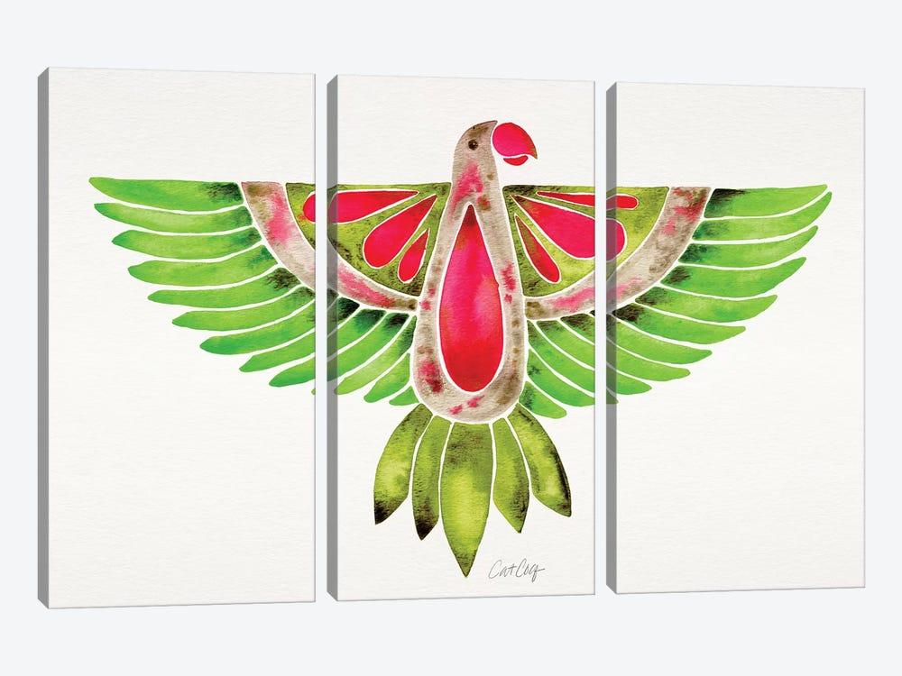 Lovebird Parrot by Cat Coquillette 3-piece Canvas Artwork