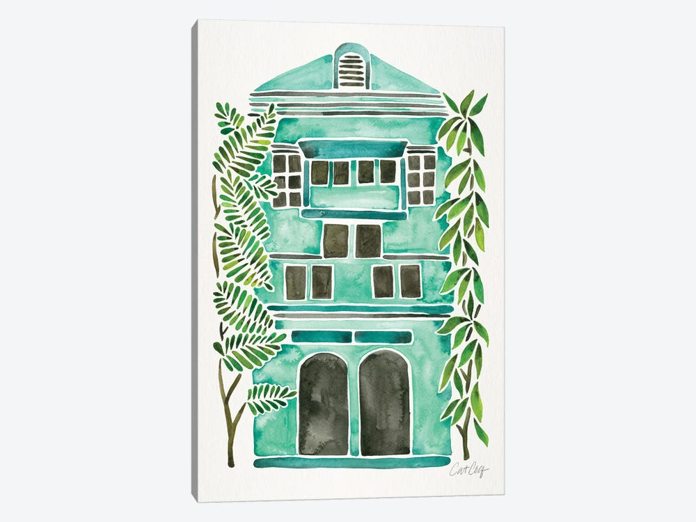 Mint House by Cat Coquillette 1-piece Canvas Art Print