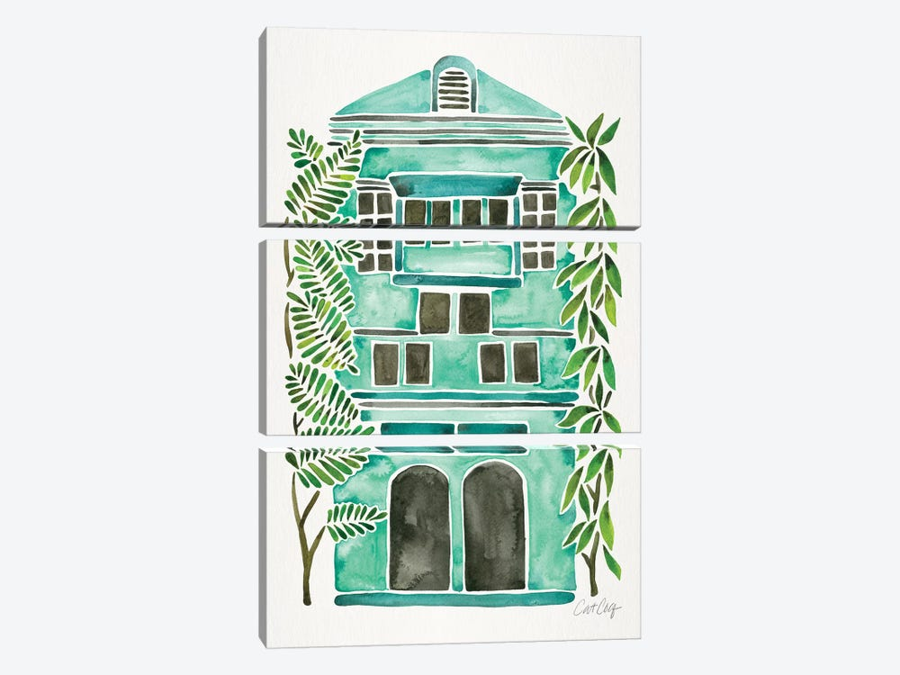 Mint House by Cat Coquillette 3-piece Art Print