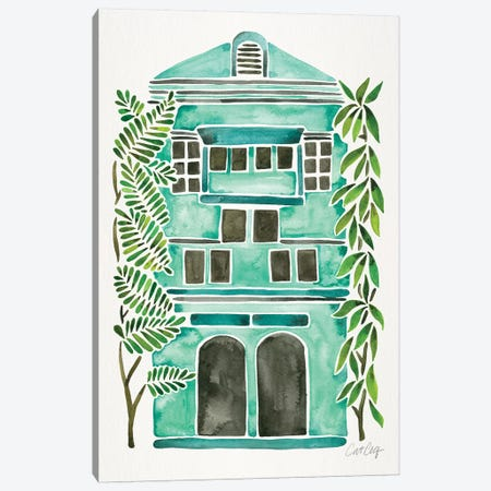 Mint House Canvas Print #CCE396} by Cat Coquillette Canvas Wall Art