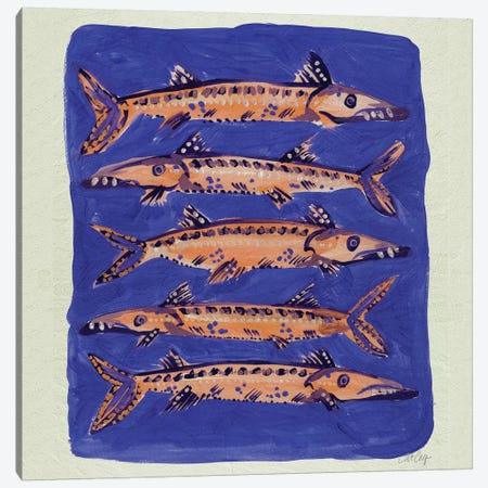 Barracuda Blue Artprint Canvas Print #CCE39} by Cat Coquillette Canvas Print