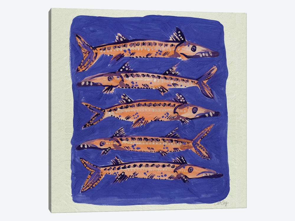 Barracuda Blue Artprint by Cat Coquillette 1-piece Canvas Print