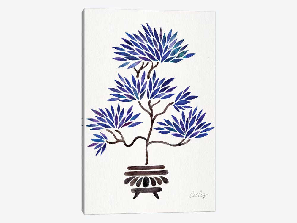 Navy Bonsai by Cat Coquillette 1-piece Canvas Print
