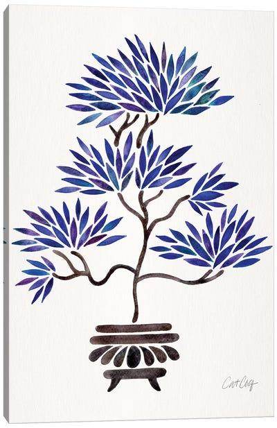 Navy Bonsai Canvas Art Print
