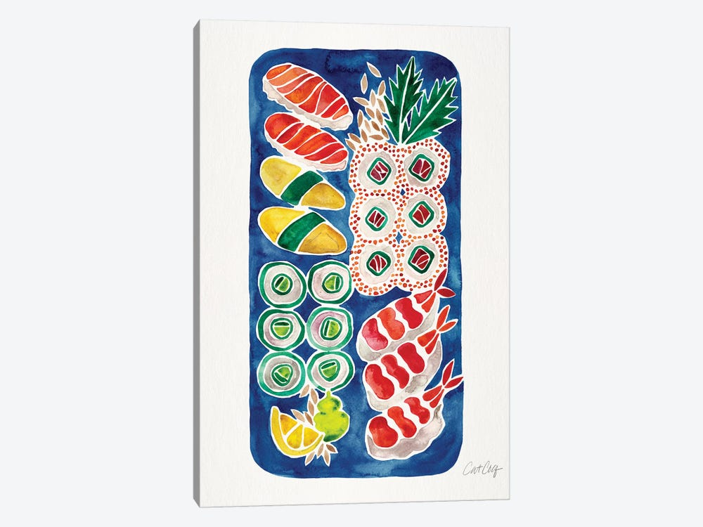 Navy Sushi by Cat Coquillette 1-piece Canvas Artwork