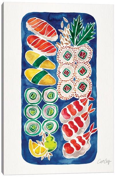 Navy Sushi Canvas Art Print