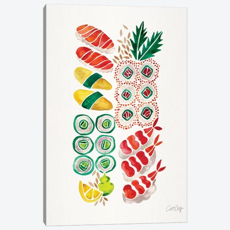 No Platter Sushi Canvas Print #CCE406} by Cat Coquillette Canvas Wall Art