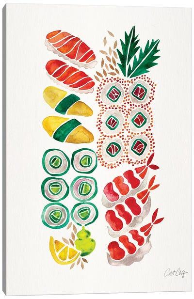No Platter Sushi Canvas Art Print
