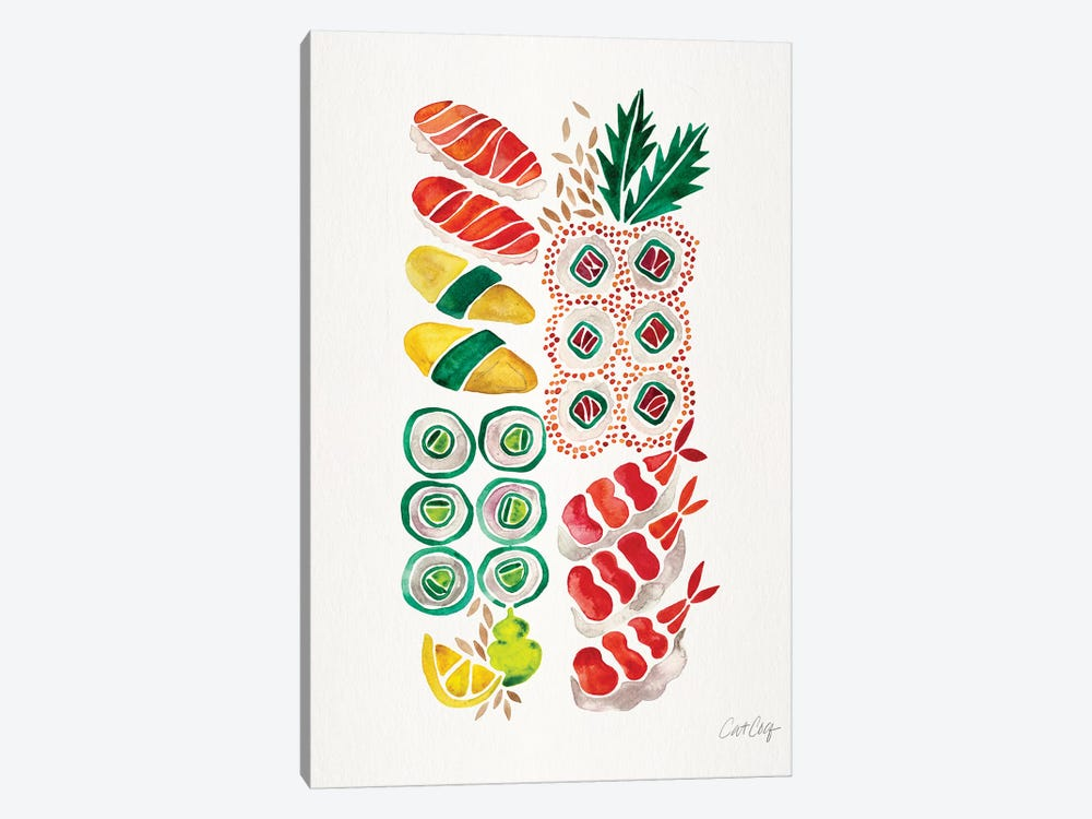 No Platter Sushi by Cat Coquillette 1-piece Canvas Print