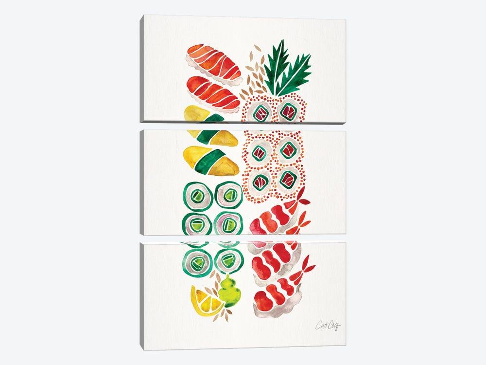 No Platter Sushi by Cat Coquillette 3-piece Art Print