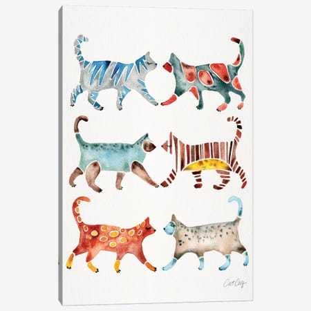 Original Cat Collection Canvas Print #CCE409} by Cat Coquillette Canvas Art Print