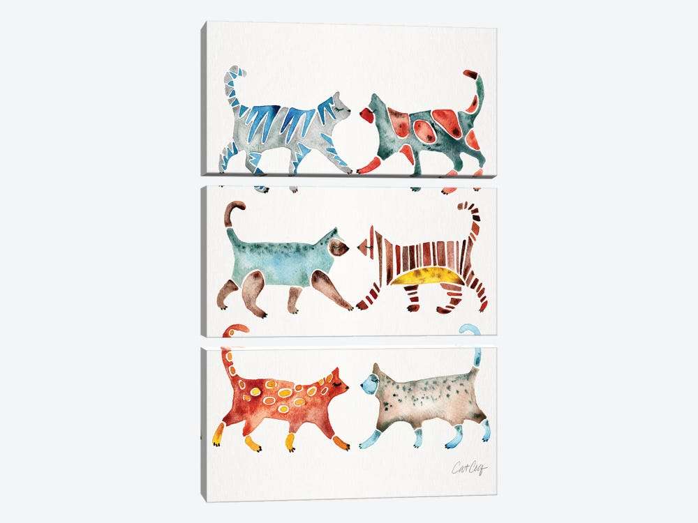 Original Cat Collection by Cat Coquillette 3-piece Canvas Wall Art