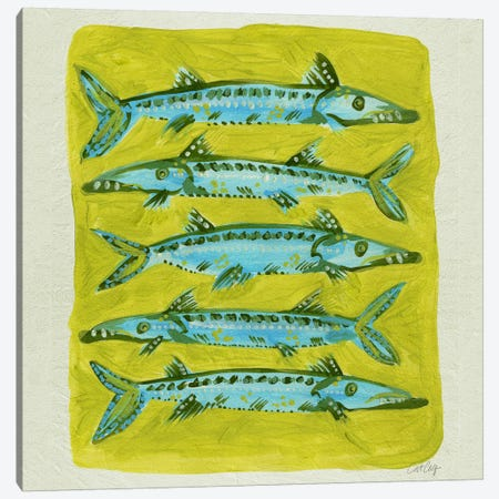 Barracuda Yellow Canvas Print #CCE40} by Cat Coquillette Canvas Artwork