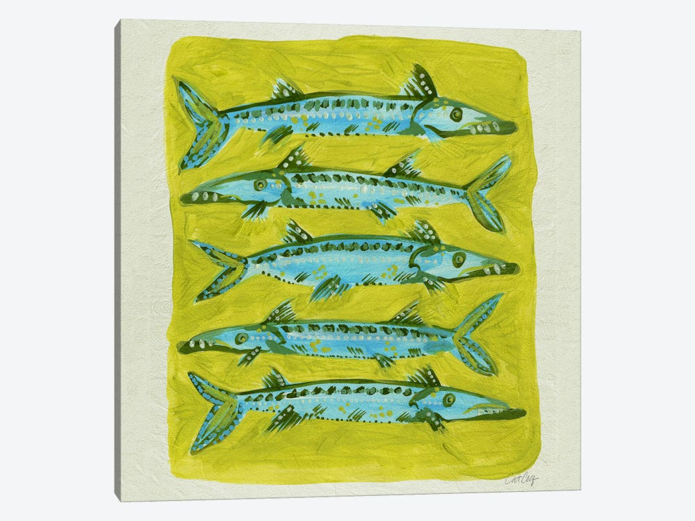 Barracuda Yellow by Cat Coquillette 1-piece Art Print