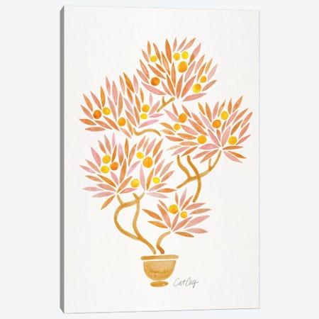 Peach Bonsai Orange Canvas Print #CCE410} by Cat Coquillette Canvas Artwork