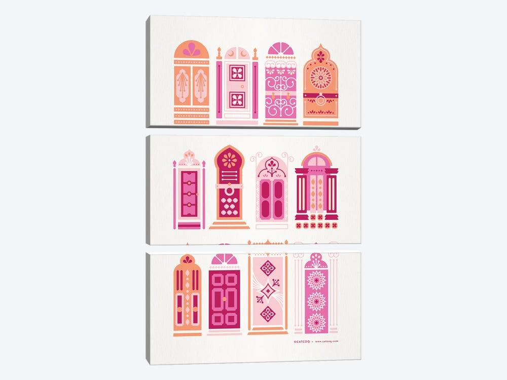 Peach Doors by Cat Coquillette 3-piece Canvas Art Print