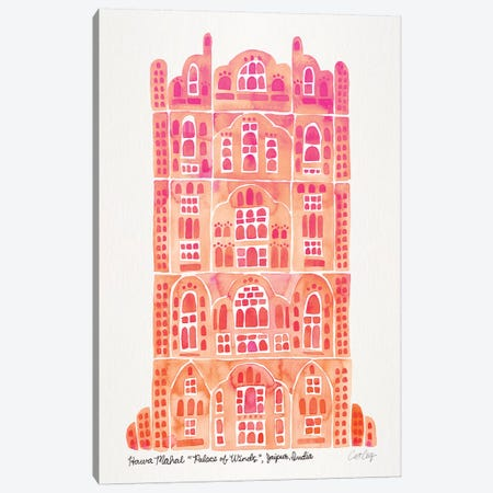 Peach Hawa Mahal Canvas Print #CCE412} by Cat Coquillette Canvas Artwork