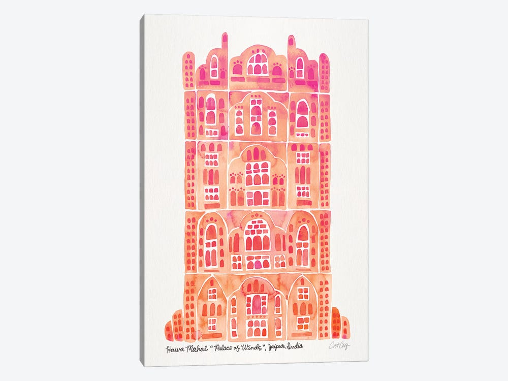 Peach Hawa Mahal by Cat Coquillette 1-piece Canvas Art