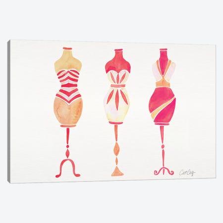 Peach Ombré 3Dresses Canvas Print #CCE414} by Cat Coquillette Art Print