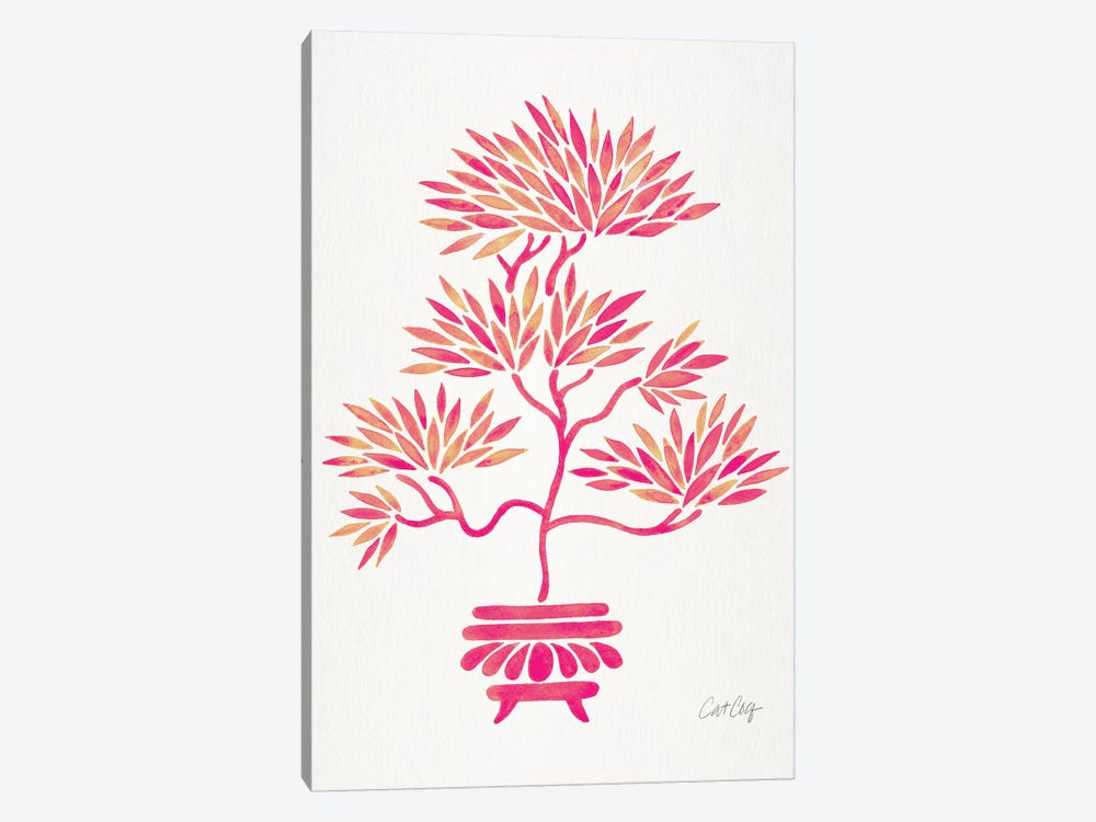 Pink Bonsai by Cat Coquillette 1-piece Canvas Artwork