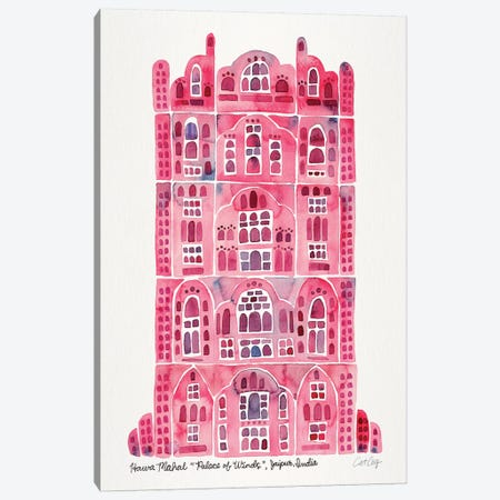 Pink Hawa Mahal Canvas Print #CCE419} by Cat Coquillette Canvas Art