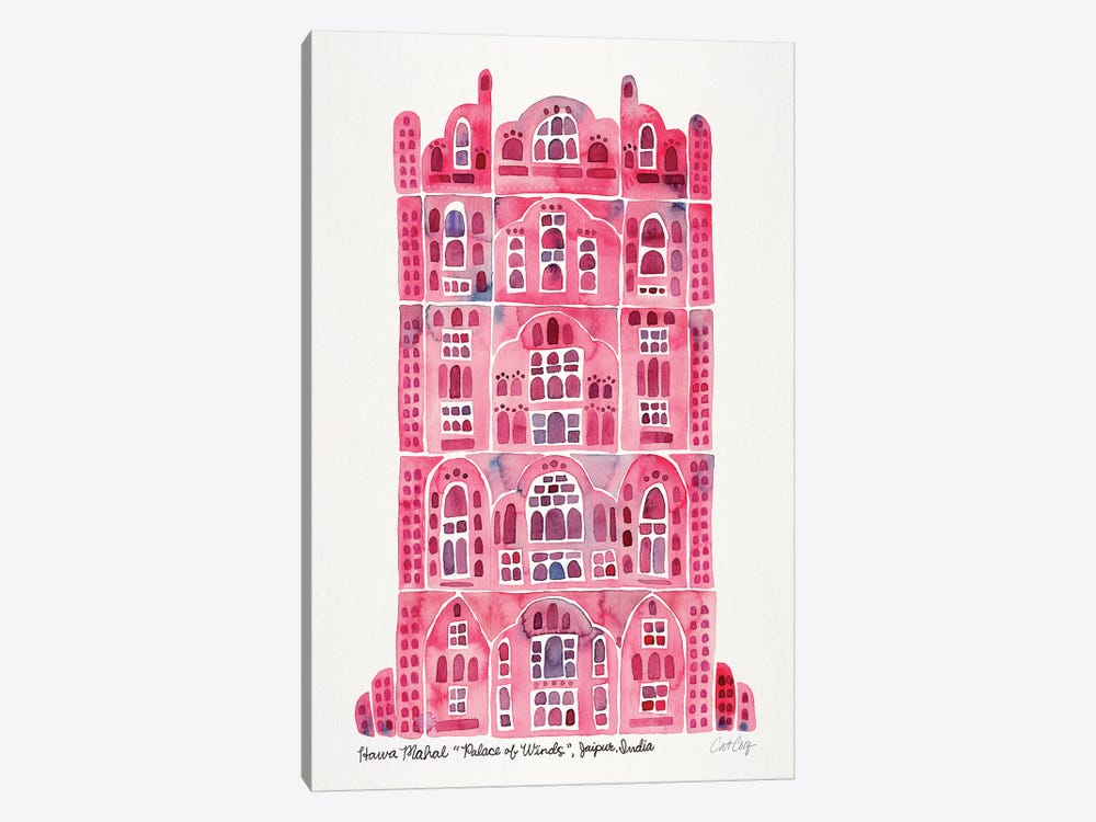Pink Hawa Mahal by Cat Coquillette 1-piece Canvas Print
