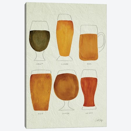 Beer Artprint Canvas Print #CCE41} by Cat Coquillette Canvas Art
