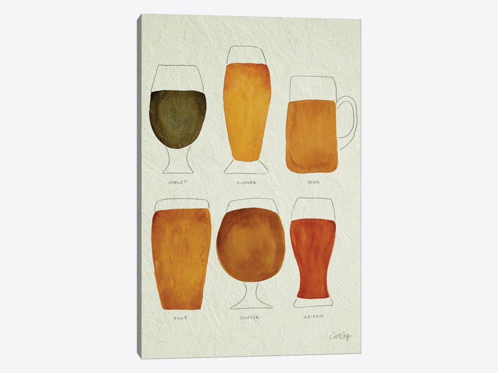Beer Artprint by Cat Coquillette 1-piece Canvas Art