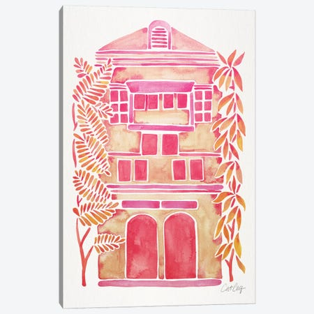 Pink House Canvas Print #CCE420} by Cat Coquillette Art Print