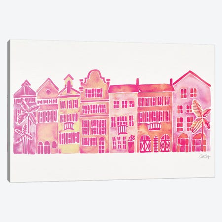 Pink Rainbow Row Canvas Print #CCE422} by Cat Coquillette Canvas Print