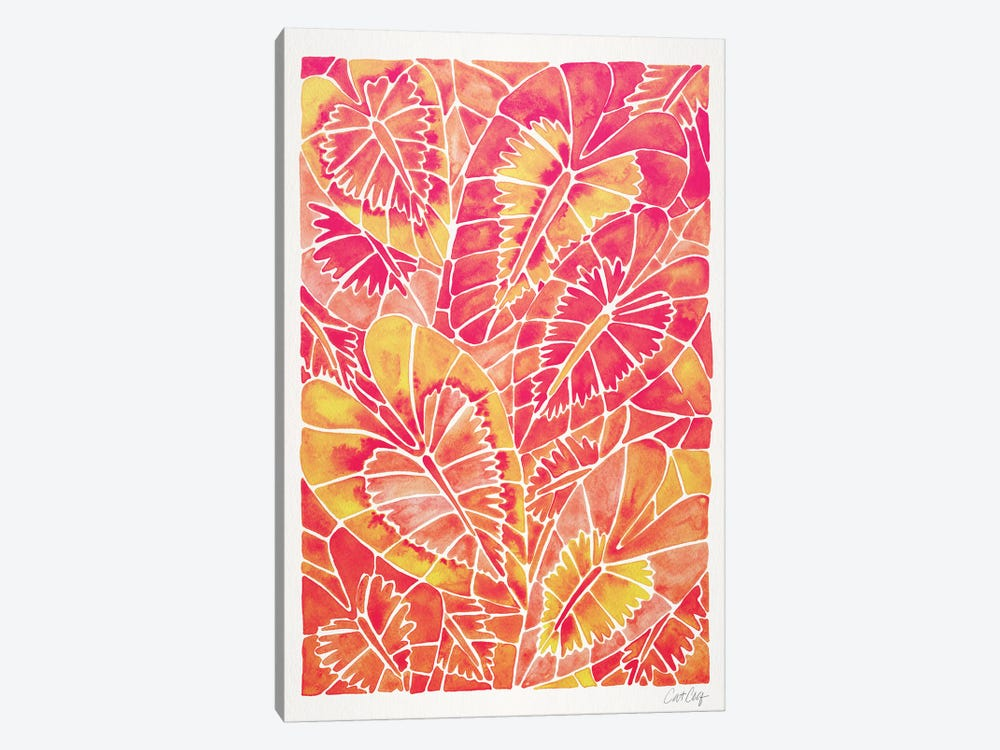 Pink Schismatoglottis Calyptrata by Cat Coquillette 1-piece Canvas Artwork