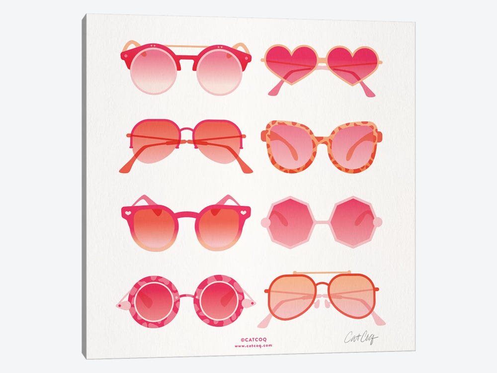 Pink Sunglasses by Cat Coquillette 1-piece Canvas Artwork