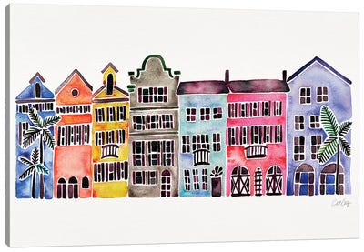 Rainbow Rainbow Row Canvas Art Print