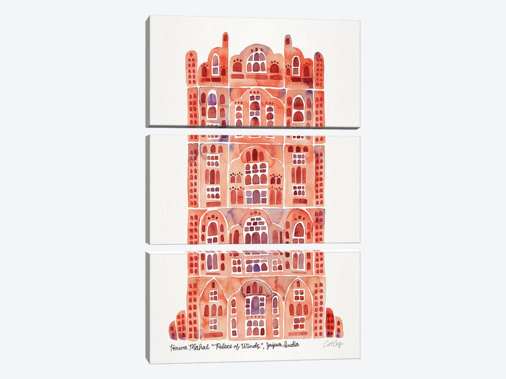 Sandstone Hawa Mahal by Cat Coquillette 3-piece Art Print