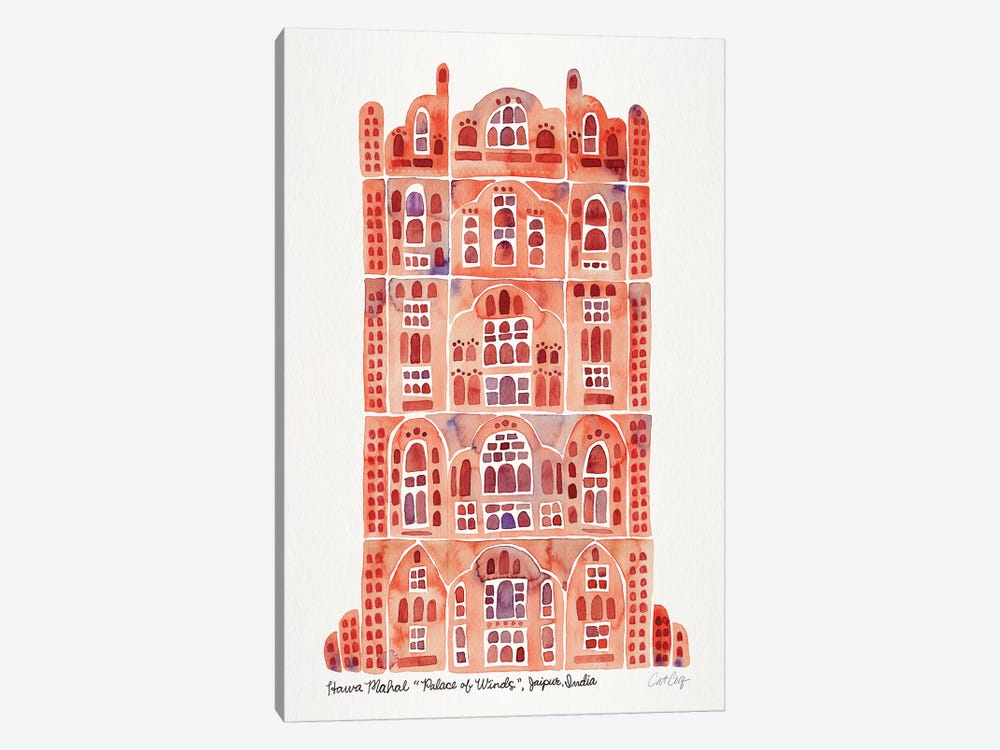 Sandstone Hawa Mahal by Cat Coquillette 1-piece Canvas Print
