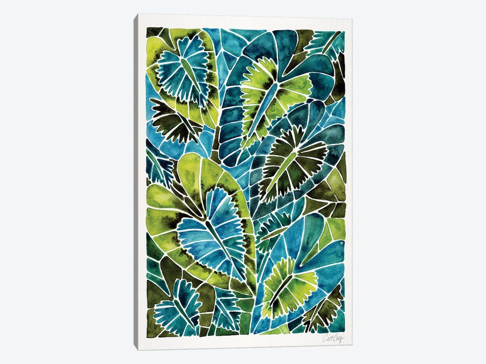 Teal Schismatoglottis Calyptrata by Cat Coquillette 1-piece Canvas Print